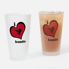 I Love Kumite Karate Gear - Drinking Glass