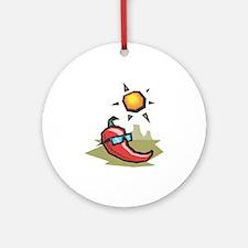 Chillin' Chili Pepper Ornament (Round)