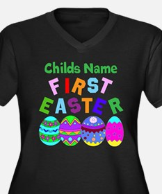 First Easter Women's Plus Size V-Neck Dark T-Shirt