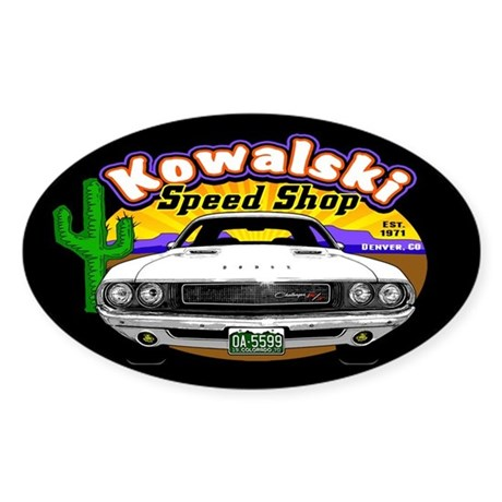 Kowalski Speed Shop - Color Sticker (Oval)