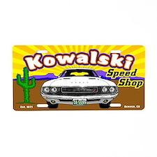 Kowalski Speed Shop - Color Aluminum License Plate