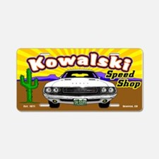 Kowalski Speed Shop - Color Aluminum License Plate