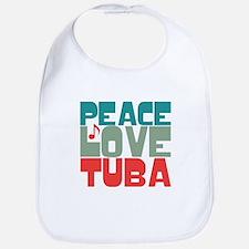 Peace Love Tuba Bib