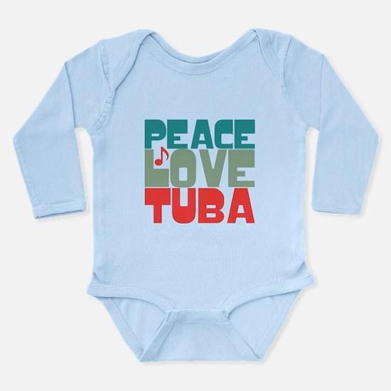 Peace Love Tuba Long Sleeve Infant Bodysuit