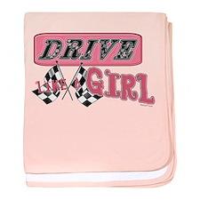 Drive Like A Girl baby blanket
