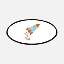 Blue and Orange Rocket Ship Patches