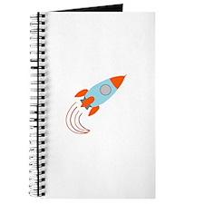 Blue and Orange Rocket Ship Journal