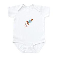 Blue and Orange Rocket Ship Infant Bodysuit