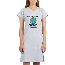 Save the Planet / Zombies -Women's Nightshirt