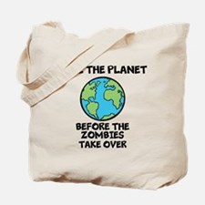 Save the Planet / Zombies Tote Bag