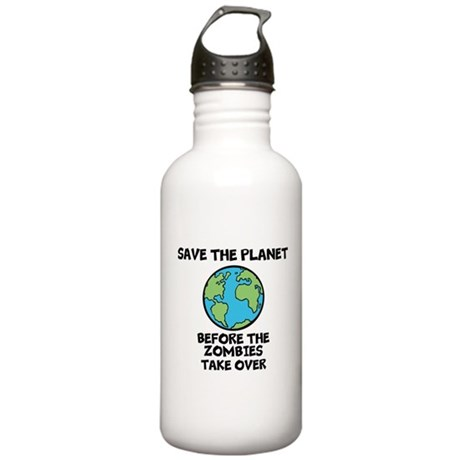 Save the Planet / Zombies Stainless Water Bottle 1