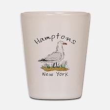 Hamptons NY Seagull Shot Glass