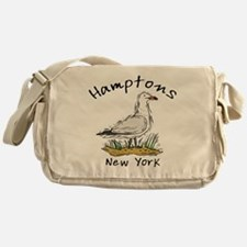 Hamptons NY Seagull Messenger Bag