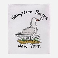Hampton Bays NY Throw Blanket
