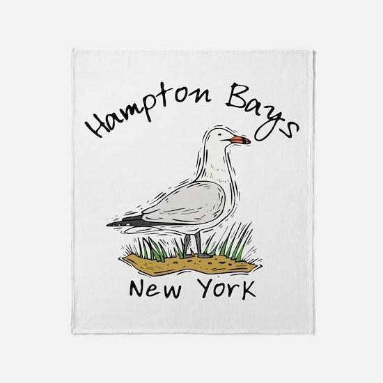 Hampton Bays NY Throw Blanket