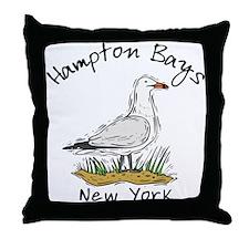 Hampton Bays NY Throw Pillow