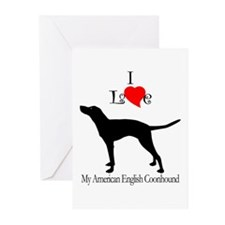 American English Coonhound Greeting Cards (Package