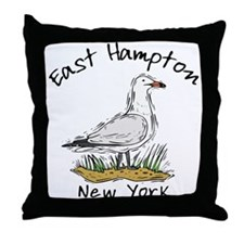 East Hampton NY Throw Pillow