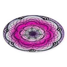 Pink and Purple Rose Flower Doodle Decal