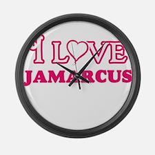I Love Jamarcus Large Wall Clock