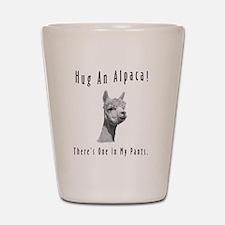 """Hug An Alpaca"" Shot Glass"