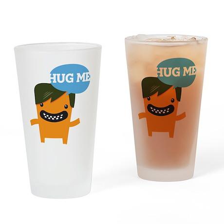 Hug Me Love Me Drinking Glass