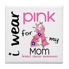 I Wear Pink 43 Breast Cancer Tile Coaster