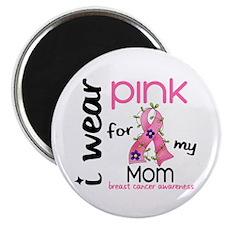 """I Wear Pink 43 Breast Cancer 2.25"""" Magnet (10 pack"""