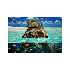Turtle Island Fantasy Seclude Rectangle Magnet