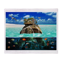 Turtle Island Fantasy Seclude Throw Blanket