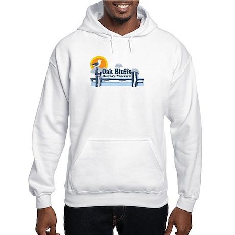 Oak Bluffs MA - Pier Design. Hooded Sweatshirt