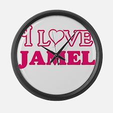 I Love Jamel Large Wall Clock
