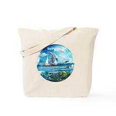 Big Blue Ocean Bubble Natures Tote Bag