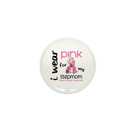 I Wear Pink 43 Breast Cancer Mini Button (100 pack