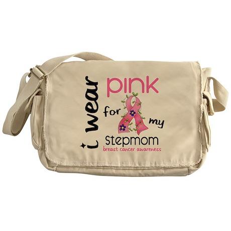 I Wear Pink 43 Breast Cancer Messenger Bag