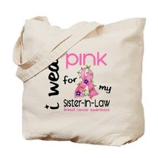 I Wear Pink 43 Breast Cancer Tote Bag