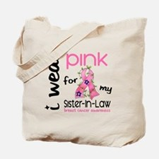I Wear Pink 43 Breast Cancer Tote Bag