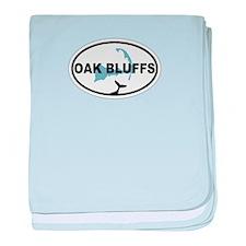 Oak Bluffs MA - Oval Design. baby blanket
