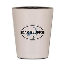 Oak Bluffs MA - Oval Design. Shot Glass