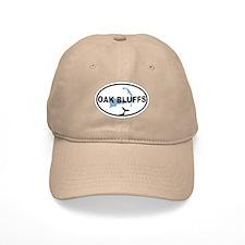 Oak Bluffs MA - Oval Design. Baseball Cap