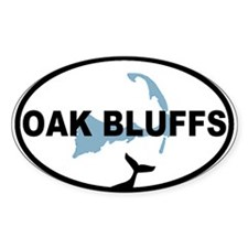 Oak Bluffs MA - Oval Design. Decal