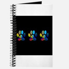 3 PAWS ON BLACK Journal