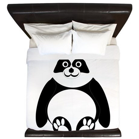 Panda Bear Design King Duvet