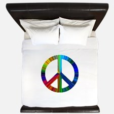 Unique Peace sign King Duvet
