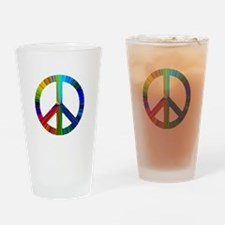 Unique Christmas hippie Drinking Glass