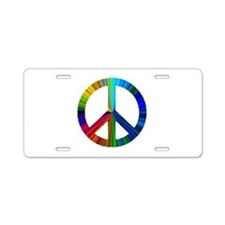 Funny Peace love Aluminum License Plate