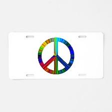 Unique Rainbow peace Aluminum License Plate