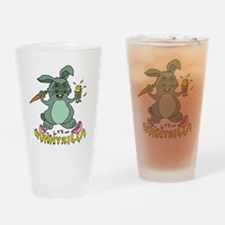 Bunnyzilla Easter Bunny Drinking Glass