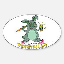 Bunnyzilla Easter Bunny Decal