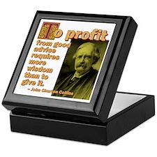 To Profit From Advice Keepsake Box